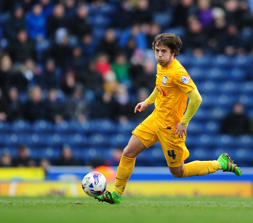 Preston North End&rsquo;s Ben Pearson<br /> <br /> Photographer Chris Vaughan/CameraSport<br /> <br /> Football - The Football League Sky Bet Championship - Blackburn Rovers v Preston North End - Saturday 2nd April 2016 - Ewood Park - Blackburn<br /> <br /> &copy; CameraSport - 43 Linden Ave. Countesthorpe. Leicester. England. LE8 5PG - Tel: +44 (0) 116 277 4147 - admin@camerasport.com - www.camerasport.com