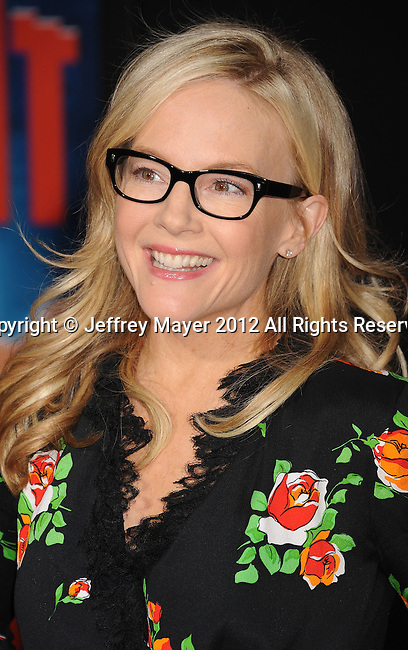 HOLLYWOOD, CA - OCTOBER 29: Rachael Harris arrives at the Los Angeles premiere of 'Wreck-It Ralph' at the El Capitan Theatre on October 29, 2012 in Hollywood, California.