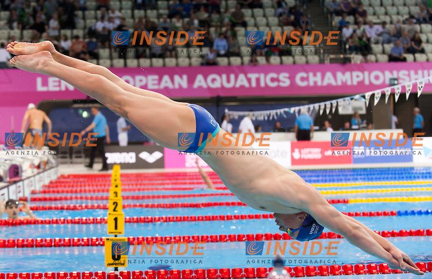 PEATY Adam GBR<br /> London, Queen Elizabeth II Olympic Park Pool <br /> LEN 2016 European Aquatics Elite Championships <br /> Swimming<br /> Warmup<br /> Day 10 18-05-2016<br /> Photo Giorgio Perottino/Deepbluemedia/Insidefoto