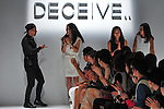 October 18, 2012, Tokyo, Japan - Designers of ''DECEIVE..'' appear after the show of Mercedes-Benz Fashion Week Tokyo 2013 Spring/Summer. The Mercedes-Benz Fashion Week Tokyo runs from October 13-20. (Photo by Yumeto Yamazaki/AFLO)