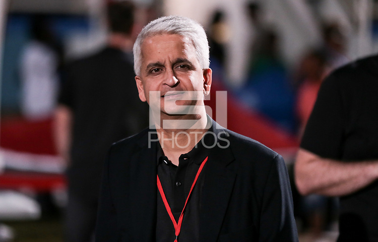 Couva, Trinidad & Tobago - Tuesday Oct. 10, 2017: Sunil Gulati during a 2018 FIFA World Cup Qualifier between the men's national teams of the United States (USA) and Trinidad & Tobago (TRI) at Ato Boldon Stadium.