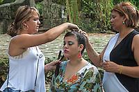 Hair and makeup for her quinceañera, La Habana del Este