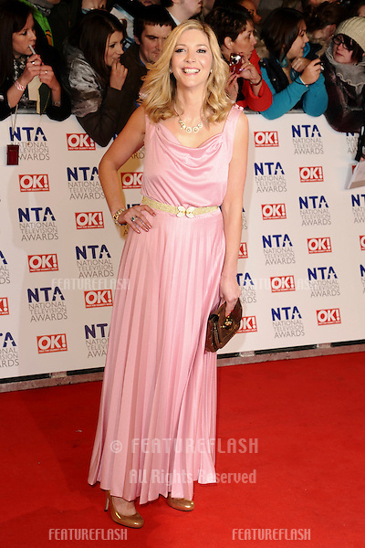 Lisa Faulkner arriving for the National Television Awards 2011, at the O2, London. 26/01/2011  Picture By: Steve Vas / Featureflash