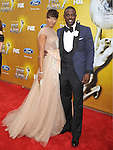 LOS ANGELES, CA. - February 26: Eva Marcille and Lance Gross  arrive at the 41st NAACP Image Awards at The Shrine Auditorium on February 26, 2010 in Los Angeles, California.