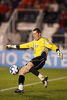 University of Massachusetts Minutemen goalkeeper Zack Simmons (1) during an NCAA College Cup semi-final match at SAS Stadium in Cary, NC on December 14, 2007. Ohio State defeated Massachusetts 1-0.