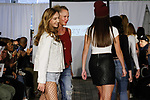 Fashion designer Isabella Brown walks runway with child models at the close of her Izzy Be Boutique Clothing Line fashion show, during the KidFash Magazine runway show in Brooklyn, New York on Nov 4, 2017.