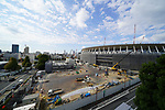 Construction works continue at the New National Stadium on October 20, 2018, Tokyo, Japan. The Stadium will be the venue for 2020 Tokyo Olympic and Paralympic Games. (Photo by Hitoshi Mochizuki/AFLO)