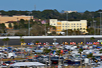 19-20 February, 2016, Daytona Beach, Florida USA<br /> Kasey Kahne leads through turn 3.<br /> ©2016, F. Peirce Williams