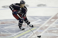 20 October 2006: Columbus Blue Jackets' Ron Hainsey plays against the Toronto Maple Leafs at Nationwide Arena in Columbus, Ohio.<br />
