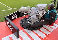 FUSSBALL   1. BUNDESLIGA  SAISON 2012/2013   9. Spieltag   VfB Stuttgart - Eintracht Frankfurt      28.10.2012 TV Kamera am der Mittellinie