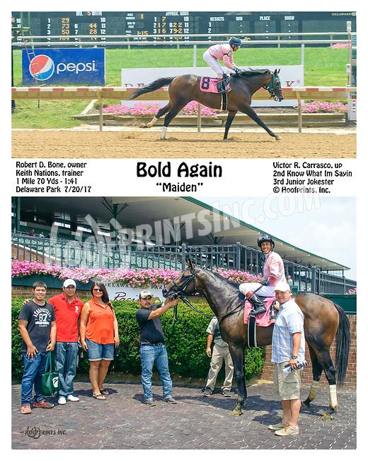 Bold Again winning at Delaware Park on 7/20/17