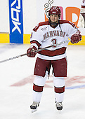 Alex Biega (Harvard - 3) - The Northeastern University Huskies defeated the Harvard University Crimson 3-1 in the Beanpot consolation game on Monday, February 12, 2007, at TD Banknorth Garden in Boston, Massachusetts.