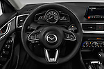 Car pictures of steering wheel view of a 2017 Mazda Mazda3 Sport 4 Door Sedan Steering Wheel