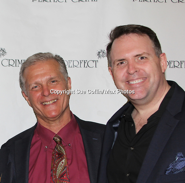 "All My Children's Richard Shoberg stars as ""Inspector James Ascher"" with Hugh Hysell  in Perfect Crime - 30th Anniversary off-Broadway on April 18, 2017 at Bernstein Theatre, New York City, New York. (Photo by Sue Coflin/Max Photos)"