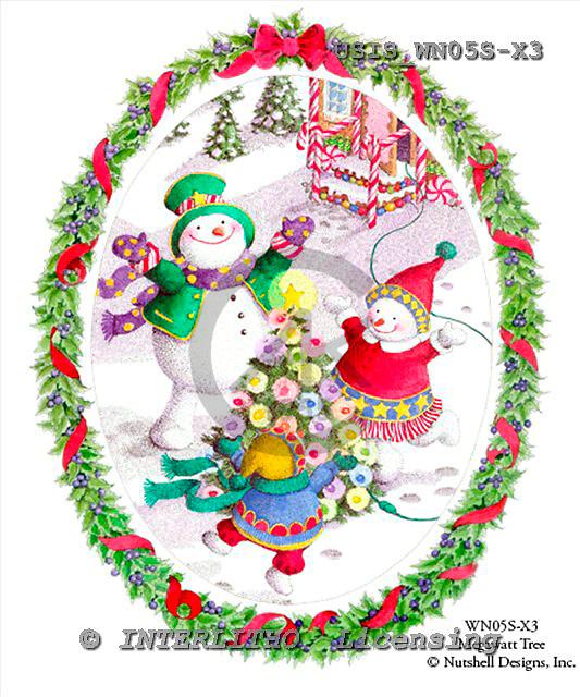 Ingrid, CHRISTMAS SANTA, SNOWMAN, WEIHNACHTSMÄNNER, SCHNEEMÄNNER, PAPÁ NOEL, MUÑECOS DE NIEVE, paintings+++++,USISWN05S-X3,#X# vintage