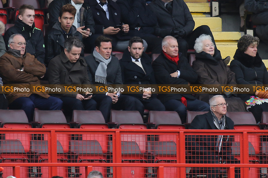 Lee Johnson who has today been appointed the new Bristol City Manager, watches from the stand during Charlton Athletic vs Bristol City, Sky Bet Championship Football at The Valley