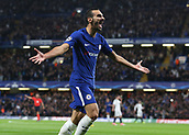 12th September 2017, Stamford Bridge, London, England; UEFA Champions League Group stage, Chelsea versus Qarabag FK; Davide Zappacosta of Chelsea celebrates scoring his sides 2nd goal in the 29th minute to make it 2-0
