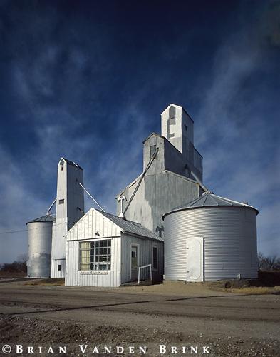 Grain Elevators.Long Island, Kansas