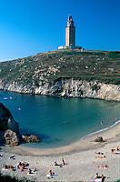 römischer Herkulesturm, La Coruña, Galicien, Spanien, Unesco-Weltkulturerbe, Unesco-Weltkulturerbe