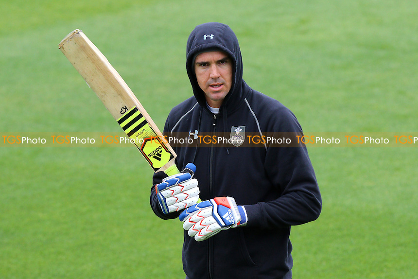 Kevin Pietersen of Surrey looks on ahead of Day One - Surrey CCC vs Essex CCC - LV County Championship Division Two Cricket at the Kia Oval, Kennington, London - 26/04/15 - MANDATORY CREDIT: Gavin Ellis/TGSPHOTO - Self billing applies where appropriate - contact@tgsphoto.co.uk - NO UNPAID USE