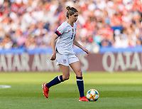 PARIS,  - JUNE 16: Morgan Brian #6 dribbles during a game between Chile and USWNT at Parc des Princes on June 16, 2019 in Paris, France.