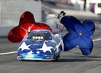 Feb 9, 2017; Pomona, CA, USA; NHRA top alcohol funny car driver Bret Williamson during qualifying for the Winternationals at Auto Club Raceway at Pomona. Mandatory Credit: Mark J. Rebilas-USA TODAY Sports