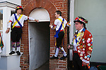 Morris dancing Thaxted Essex England. Like father like son,