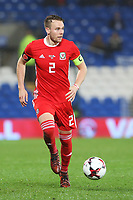 Chris Gunter of Wales during the International Friendly match between Wales and Panama at The Cardiff City Stadium, Wales, UK. Tuesday 14 November 2017
