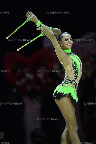 Daria Dmitrieva (RUS),.SEPTEMBER 30, 2012 - Rhythmic Gymnastics : AEON CUP 2012 Worldwide R.G. Club Championships at 1st Yoyogi Gymnasium, Tokyo, Japan. (Photo by Jun Tsukida/AFLO SPORT) [0003]