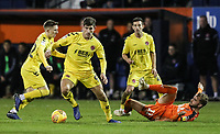 Fleetwood Town's Ched Evans competing with Luton Town's Andrew&nbsp;Shinnie<br /> <br /> Photographer Andrew Kearns/CameraSport<br /> <br /> The EFL Sky Bet League One - Luton Town v Fleetwood Town - Saturday 8th December 2018 - Kenilworth Road - Luton<br /> <br /> World Copyright &copy; 2018 CameraSport. All rights reserved. 43 Linden Ave. Countesthorpe. Leicester. England. LE8 5PG - Tel: +44 (0) 116 277 4147 - admin@camerasport.com - www.camerasport.com