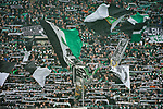 06.10.2019, Borussia Park , Moenchengladbach, GER, 1. FBL,  Borussia Moenchengladbach vs. FC Augsburg,<br />  <br /> DFL regulations prohibit any use of photographs as image sequences and/or quasi-video<br /> <br /> im Bild / picture shows: <br /> Fans Gladbacher <br /> <br /> Foto © nordphoto / Meuter