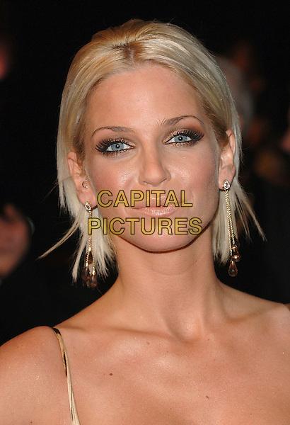 "SARAH HARDING.The world premiere of ""Casino Royale"", Odeon Leicester Square, London, England..November 14th, 2007.james bond 007 headshot portrait .CAP/BEL.©Belcher/Capital Pictures"