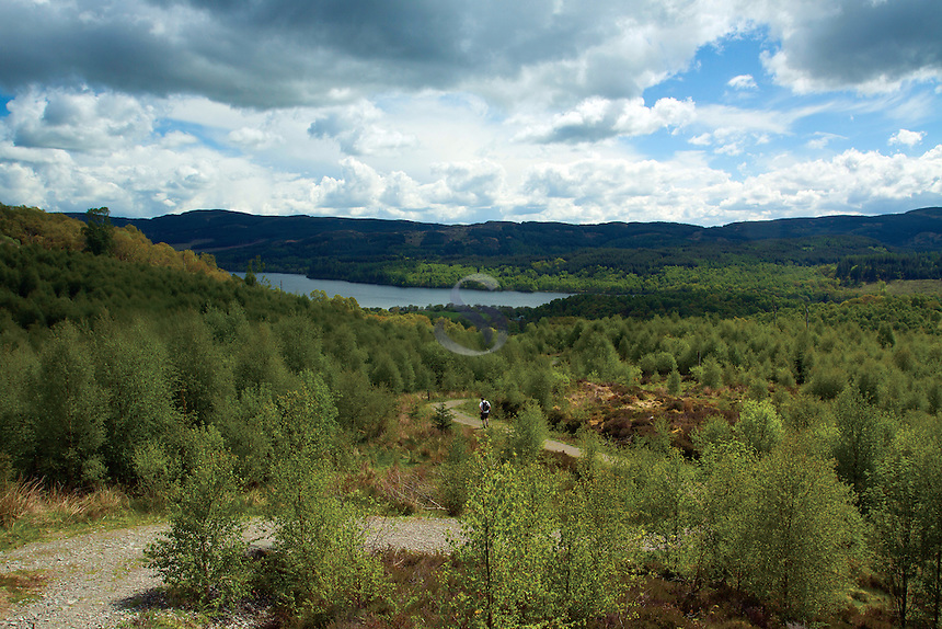 Loch Venachar from The Great Trossachs Path, Glen Finglas, Loch Lomond and the Trossachs National Park, Stirlingshire