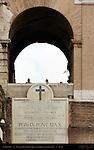Papal Dedication Plaque Colosseum Rome