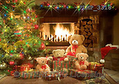 Marek, CHRISTMAS ANIMALS, WEIHNACHTEN TIERE, NAVIDAD ANIMALES, teddies, photos+++++,PLMP3318,#Xa# under Christmas tree,