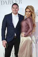 "Kieran Hayler and Katie Price<br /> at the ""Fifty Shades Darker"" premiere, Odeon Leicester Square, London.<br /> <br /> <br /> ©Ash Knotek  D3223  09/02/2017"