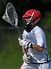 Kyle Bockelman #1, Hills East goalie, looks to make an outlet pass during the fourth quarter of the Suffolk County varsity boys lacrosse Division I (Class A) quarterfinals against Commack at Half Hollow Hills High School East on Friday, May 19, 2017. He made 17 saves in Hills East's 11-9 win.