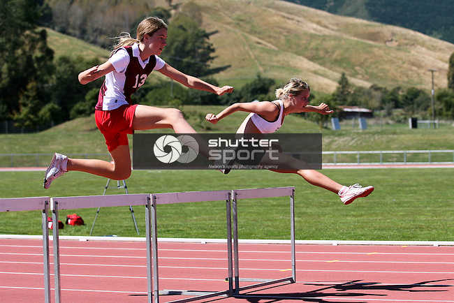 U14G 80m Hurdles. TSS Athletics Championships 2012, 10 Mar 2012,  Saxton Athletic Stadium, Nelson, New Zealand<br /> Photo: Marc Palmano/shuttersport.co.nz