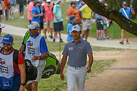 Si Woo Kim (KOR) makes his way to the tee on 2 during day 2 of the Valero Texas Open, at the TPC San Antonio Oaks Course, San Antonio, Texas, USA. 4/5/2019.<br /> Picture: Golffile | Ken Murray<br /> <br /> <br /> All photo usage must carry mandatory copyright credit (© Golffile | Ken Murray)