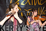 Alan Kelly and his band musicians Steph Geremia and Maureen Browne performing in the Scattering concert at the Gathering Traditional festival in the Gleneagle Hotel on Saturday night ......
