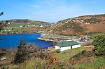 South Harbour bay and houses, Cape Clear Island, County Cork, Ireland, Irish Republic
