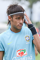 RIO DE JANEIRO-15/07/2012- Atacante Neymar no ultimo treino da Selecao Brasileira de Futebol, no Brasil, antes das Olimpiadas, na Escola de Educacao fisica do Exercito, na Urca, Zona Sul do Rio.Foto:Marcelo Fonseca-Brazil Photo Press