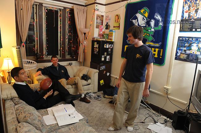 Resident Assistant (R.A.) Dan Krcmaric in Dillon Hall..Photo by Matt Cashore/University of Notre Dame