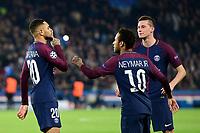 Celebration Esultanza des joueurs du PSG apres le but de KURZAWA Layvin (PSG) <br /> Parigi 31-10-2017 <br /> Paris Saint Germain - Anderlecht Champions League 2017/2018<br /> Foto Panoramic / Insidefoto