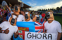 Fans on day one of the 2019 HSBC World Sevens Series Hamilton at FMG Stadium in Hamilton, New Zealand on Saturday, 26 January 2019. Photo: Dave Lintott / lintottphoto.co.nz