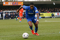 Michael Folivi of AFC Wimbledon during AFC Wimbledon vs Millwall, Emirates FA Cup Football at the Cherry Red Records Stadium on 16th February 2019
