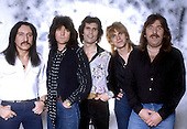 URIAN HEEP - L-R: Mick Box, Bob Daisley, Peter Goalby, John Sinclair, Lee Kerslake - Photosession in London UK - Jan 1982.  Photo credit: George Bodnar Archive/IconicPix