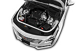 Car Stock 2019 Cadillac CT6 Luxury 4 Door Sedan Engine  high angle detail view