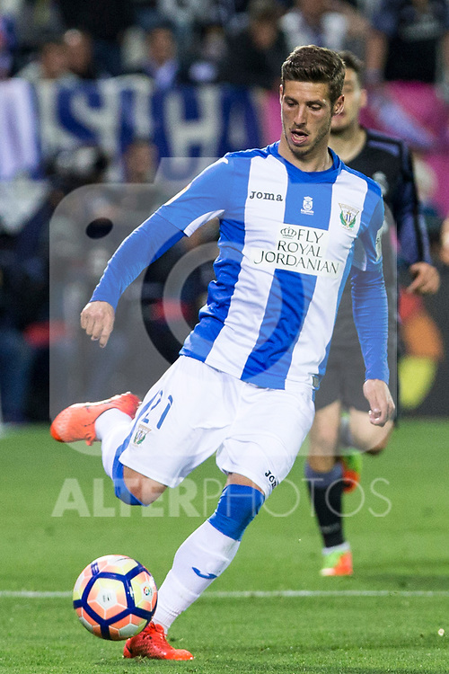 Ruben Perez of Club Deportivo Leganes during the match of  La Liga between Club Deportivo Leganes and Real Madrid at Butarque Stadium  in Leganes, Spain. April 05, 2017. (ALTERPHOTOS / Rodrigo Jimenez)