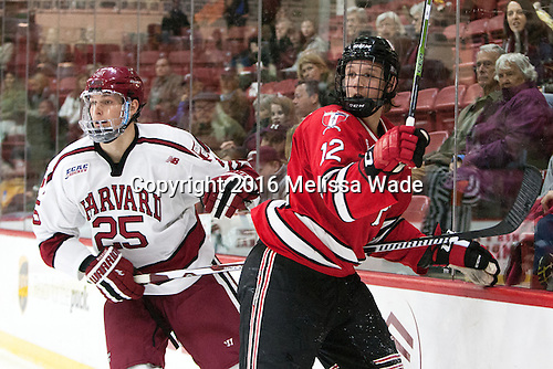 Wiley Sherman (Harvard - 25), Viktor Liljegren (RPI - 12) - The Harvard University Crimson defeated the visiting Rensselaer Polytechnic Institute Engineers 5-2 in game 1 of their ECAC quarterfinal series on Friday, March 11, 2016, at Bright-Landry Hockey Center in Boston, Massachusetts.